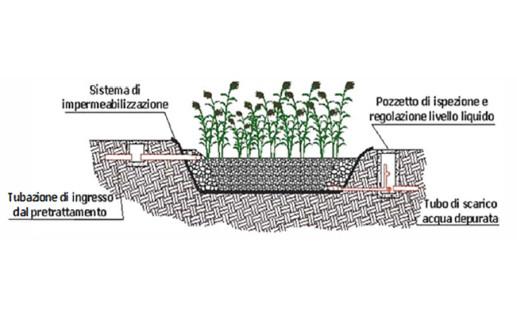 Vasche per fitodepurazione